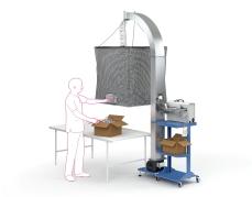 Airpouch Express 3 opvulsysteem voor het verwerken van kunststof luchtkussens