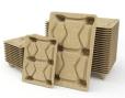 Pallets van geperst hout (Presswood) handig stapelbaar