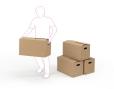 Cajas de mudanza estándar - Cajas de cartón, contenedores y palés