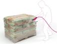 Krimppistool voor het krimpen van pallethoezen